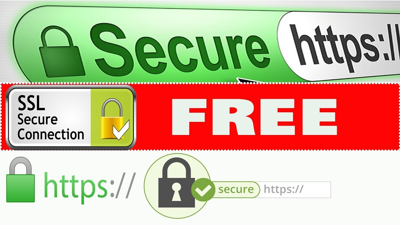 SSL Certificate for Your Website/ Green Padlock and ssl certificate/ https secure browser with ssl