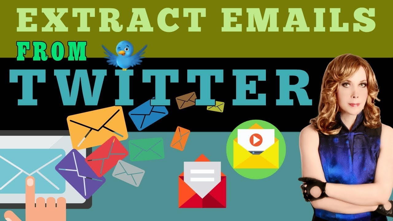 How to emails/Extract Emails from Twitter/twitter email marketing/free email extractor