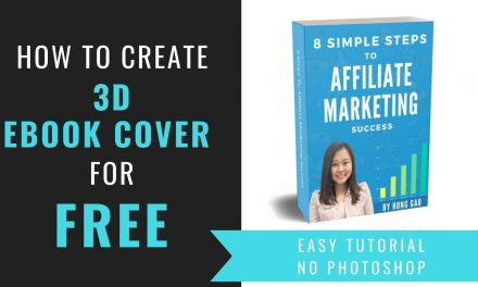 How To Create a 3D Ebook Cover For Free In 3 Minutes or Less